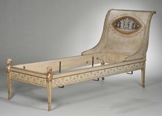 Neoclassical Painted Bed