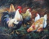 Rooster Print - Vickie Wade art, chickens, roosters, paintings, prints, art, country, fall, kitchen art