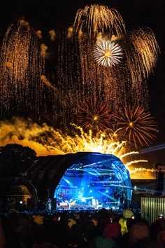 Star Fireworks firing a firework display for the Kaiser Chief's concert.
