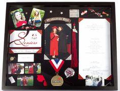Shadow Box for Graduation Graduation 2016, Graduation Cupcakes, Graduation Cap Decoration, Nursing Graduation, High School Graduation, Graduate School, Senior Gifts, Graduation Gifts, Graduation Frames