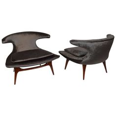 """""""Horn""""Lounge Chairs by Karpen of California 