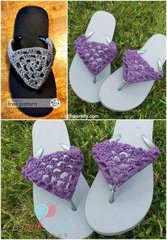 DIY Crochet Flip Flop Cover Free Pattern