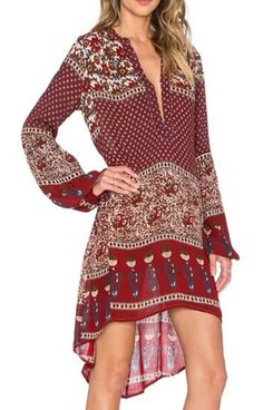 >>>Boho Floral Tunic Dress<<<