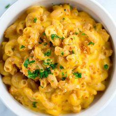 Creamy and cheesy mac 'n' cheese.