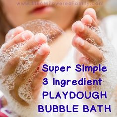 close up of hands as child plays with bubbles from a bubble bath Bubble Bath Homemade, Homemade Bubbles, Bath Bomb Recipes, Soap Recipes, Homemade Playdough, Christmas Makes, Me Time, 3 Ingredients, Quick Easy Meals
