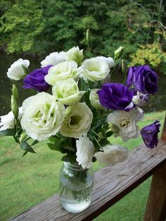 A bouquet of Lisianthus.  Lisianthus is also known by Eustoma or Prarie Gentian and is native to Texas!  They are a long lasting cut flower.