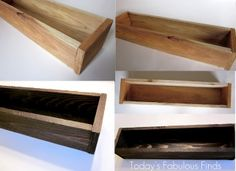 Today's Fabulous Finds: Rustic Wood Planter--Watch with me as the [wheat] grass grows!