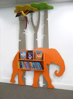 Our themed school library designs showcase the talents of our design team. Each design is bespoke, created for the individual needs of the school, its culture, ambitions and facilities. Kindergarten Interior, Kindergarten Design, School Library Design, Kids Library, Preschool Decor, Kids Decor, Creative Kids Rooms, Kids Daycare, Kids Furniture
