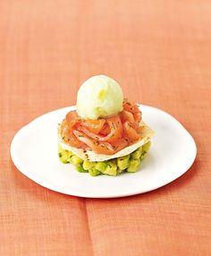 Recette de Millefeuille de saumon fumé, sorbet citron vert Carte d'Or® : la recette facile