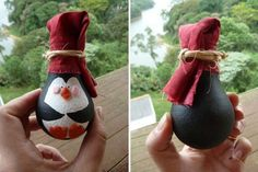 penguin christmas tree ornament with cute hat