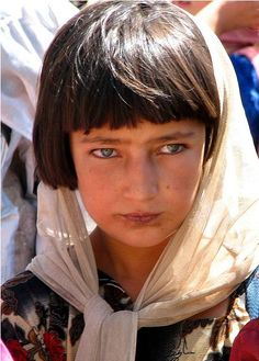 Afghanistan.This little girl seems to be of Russian / Baltic descent