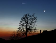 Moon and Planets in the Morning