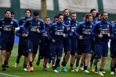 Players of Italy during the training session at Milanello on November 14, 2016 in Florence, Italy.