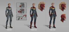 Captain Marvel, MCU, Superhero suits by Nova-sama420