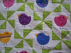 Chubby Chicks Baby quilt on the Quiting Board