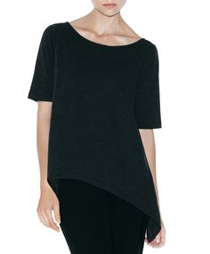 Black t-shirt with cool assymetric design.
