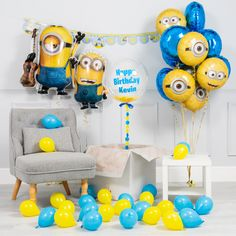 Inflated Minions Birthday Party Package by Bubblegum Balloons, the perfect gift for Explore more unique gifts in our curated marketplace. Minions Birthday Theme, Happt Birthday, Birthday Morning, Baby Boy Birthday, Birthday Parties, Birthday Cakes, Minion Party Decorations, 1st Birthday Decorations, Birthday Themes For Boys