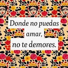 """Resultado de imagen para """"Donde no puedas amar...no te demores"""" [Frida kahlo]"""