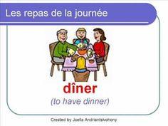 French Lesson 24 - FOOD VOCABULARY - LES REPAS de la journée (Meals of the day)