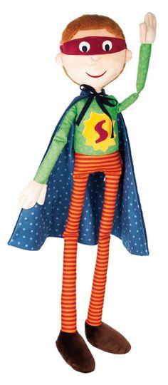 Pop Himpel Pimpel Superman: wie wil deze pop nu niet om mee te spelen? Bestel snel op www.sigikidshop.nl.