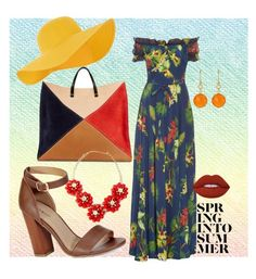 """""""Floral"""" by missainsworth ❤ liked on Polyvore featuring Isolda, Accessorize, Clare V., Bamboo, Lime Crime, Irene Neuwirth, tropicalprints and hottropics"""