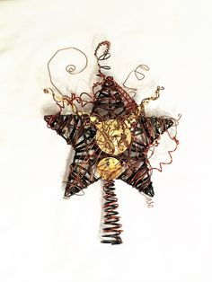 Steampunk Tree Topper by MelsMakeBelieve on Etsy