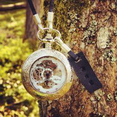 Silver pocket watch #vintage #watch