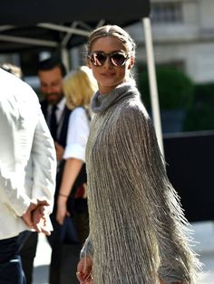 Olivia Palermo (in Valentino) during Paris Fashion Week, Fall 2016, to attend Valentino's Haute Couture show in July 2016.