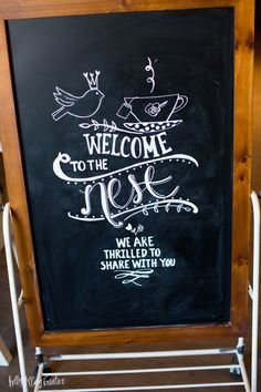 Chalkboard art by Holly McCaig. See more on the blog at hollymccaig.com #chalkboard #chalkart