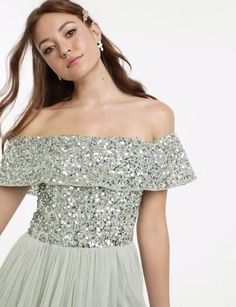 Mint Weddings, Spring Weddings, Bridesmaid Outfit, Easter Ideas, Bardot, Glitters, Lehenga, Beautiful Dresses, Tulle