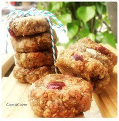 galletas de avena con chocolate blanco y arandanos - cosesycosetes