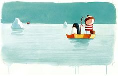 """Cover of """"Lost & Found"""" by Oliver Jeffers.  Amazingly sweet children's book about a boy and a lonely penguin."""