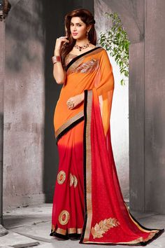 l'orange sari georgette rouge avec chemisier en soie d'art Prix:-56,77 € collecte de sari festival de design avec blouse sont maintenant en magasin présenté par Andaaz la mode comme l'orange sari georgette rouge avec chemisier en soie d'art. ce sari est agrémenté de broderies, patch, Resham, pierre, Zari, le travail et conçu avec le designer dentelle frontière Pallu, asymétrique blouse de cou, manches. http://www.andaazfashion.fr/orange-red-georgette-saree-with-art-silk-blouse-dmv7767.html