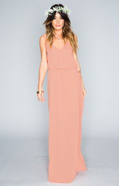 Kendall Maxi Dress - Soft Peach Crisp | Show Me Your MuMu