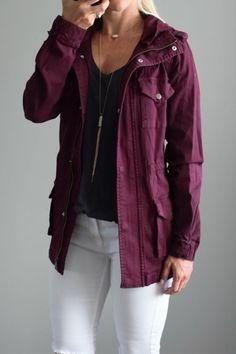 September 2016 Stitch Fix Review: Tinsel Chapleen Cargo Jacket |www.pearlsandsportsbras.com|