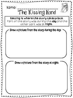 The Kissing Hand: First Week of School Kindergarten First Week, First Day Of School Activities, Kindergarten Language Arts, Kissing Hand Activities, Book Activities, The Kissing Hand, Common Core Ela, School Boy, School Week