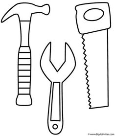 Coloring Hammer Saw and Wrench Coloring Pages Use To Make Constru with Screw Coloring P Hammer Saw And Wrench Coloring Pages Use To Make Construction Worker Tool Belt Colouring Pages, Coloring Books, Construction Birthday, Construction Worker, Construction Tools, Construction Machines, Construction Business, Papier Kind, Maker Fun Factory Vbs