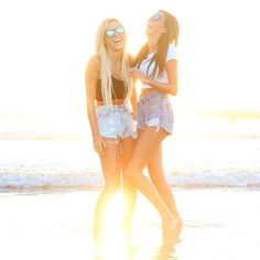 Happy girls shine brighter. //