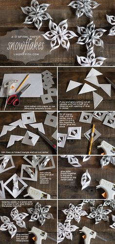 DIY Paper Snowflakes christmas christmas crafts christmas decorations christmas decor snowflakes