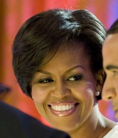 Michelle Obama's new hair cut.
