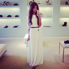 Adorable white maxi