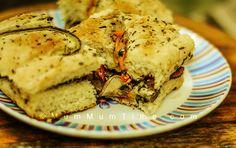 Roasted Vegetables Sandwich using Focaccia Bread – Veg Sandwich Recipe