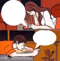 template | Boy and Girl Texting | Know Your Meme