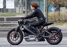 An Electric Harley-Davidson Spotted on a Hollywood Set?