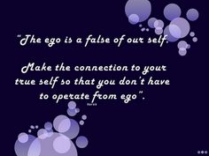 Quote of the day - Ego