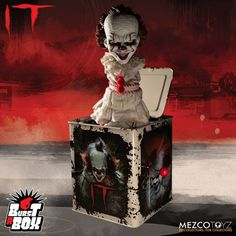 Mezco's Burst-A-Box is a pop culture infused twist on one of the most beloved, classic toys, the jack-in-the-box. Burst-A-Box Pennywise Now Available for Pre-Order 🎈🎈 For collectors this comes packaged popped-out of his tin, perfect for display 👍 The Punisher, Chuck Norris, Freddy Krueger, Luke Skywalker, Diabolik, Arya Stark, Aquaman, Diorama, Jon Snow