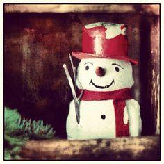 #snowman #primitive #Christmas  Photo by jenli1990