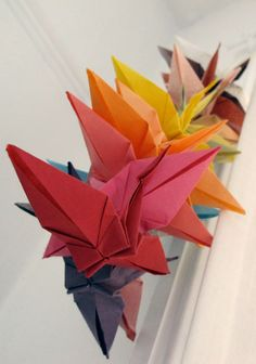 paper crane string - my dad had one of these that i made him when i was a kid hanging in his old house