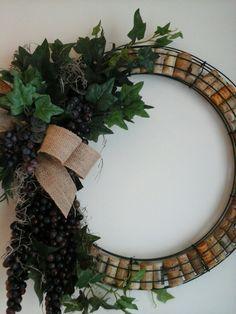 Grape Cork  Wreath