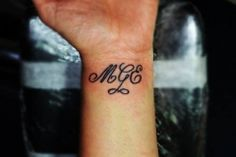 Tattoo wrist by tattoo artist Manos.. Τατουαζ γραμματα για καθε επιλογη σας.